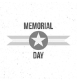 Memorial Day Sign with Text vector image vector image