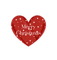 merry christmas greeting card with red lipstick vector image vector image