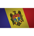 moldova flag vector image vector image