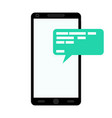 notification of message on smartphone vector image