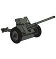 old khaki cannon vector image vector image