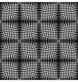 Op Art Halftone Bulge Black White Seamless Pattern vector image vector image