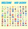 Orange background 100 universal icon set for web