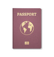 passport document id international pass tourism vector image