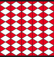 red white triangle vector image vector image