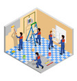 renovation isometric composition vector image vector image