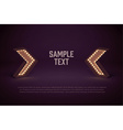 retro glowing lamp theme eps 10 vintage sign vector image vector image