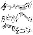 seamless design with music notes vector image vector image