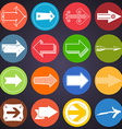 Set of flat arrow icons vector image