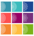 set of greeting card templates with mandalas vector image