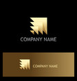 shape layer abstract 3d gold logo vector image