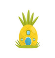 small house made from pineapple fairytale fantasy vector image vector image