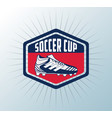 soccer cup tournament vector image vector image