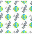 space landing planets spaceship seamless pattern vector image vector image
