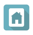 Square house sign icon vector image vector image