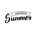 summer holidays logo modern calligraphy poster vector image