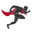 Superhero runs in the side vector image