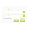 User Login 7 vector image
