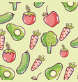 vegetables pattern background vector image