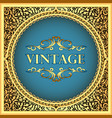 vintage background frame with a gold floral vector image vector image