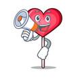 with megaphone heart lollipop character cartoon vector image vector image