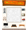 Word puzzle game with things in the house vector image vector image