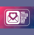 world letter writing day september 1 holiday vector image vector image