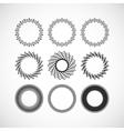 Set of lace frames design templates Graceful vector image