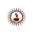 abstract sun coffee logo icon concept vector image vector image