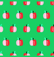 apples seamless background repeating cute vector image