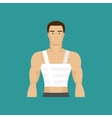 Bandaged chest vector image vector image