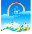 Beautiful summer with flowers vector image vector image