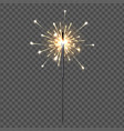 birthday party sparklers lights yellow holiday vector image