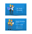 building company business card layout vector image