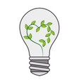 bulb green plant leaves vector image