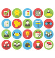 Business round icons vector image vector image