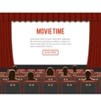 cinema auditorium with seats and audience vector image