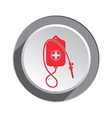 Clyster tool icon Enema symbol Round button with vector image