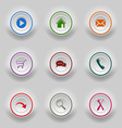 Colored set round buttons for web template vector image vector image