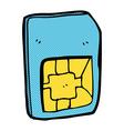 comic cartoon sim card vector image vector image