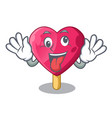 crazy the shaped heart ice cream mascot vector image vector image