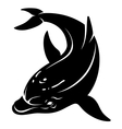 dolphin black and white vector image vector image