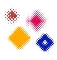 dot rhombs halftone vector image