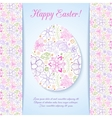 Easter egg made of flowers vector image vector image