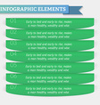 Element of text infographics for diagram graph vector image