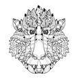 entangle monkey head doodle hand drawn vector image vector image