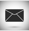envelope or mail icon black silhouette symbol on vector image