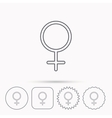 Female icon Women sex sign vector image vector image