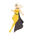 female superhero or superheroine blonde woman vector image