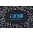 fish poster chalkboard style vector image vector image